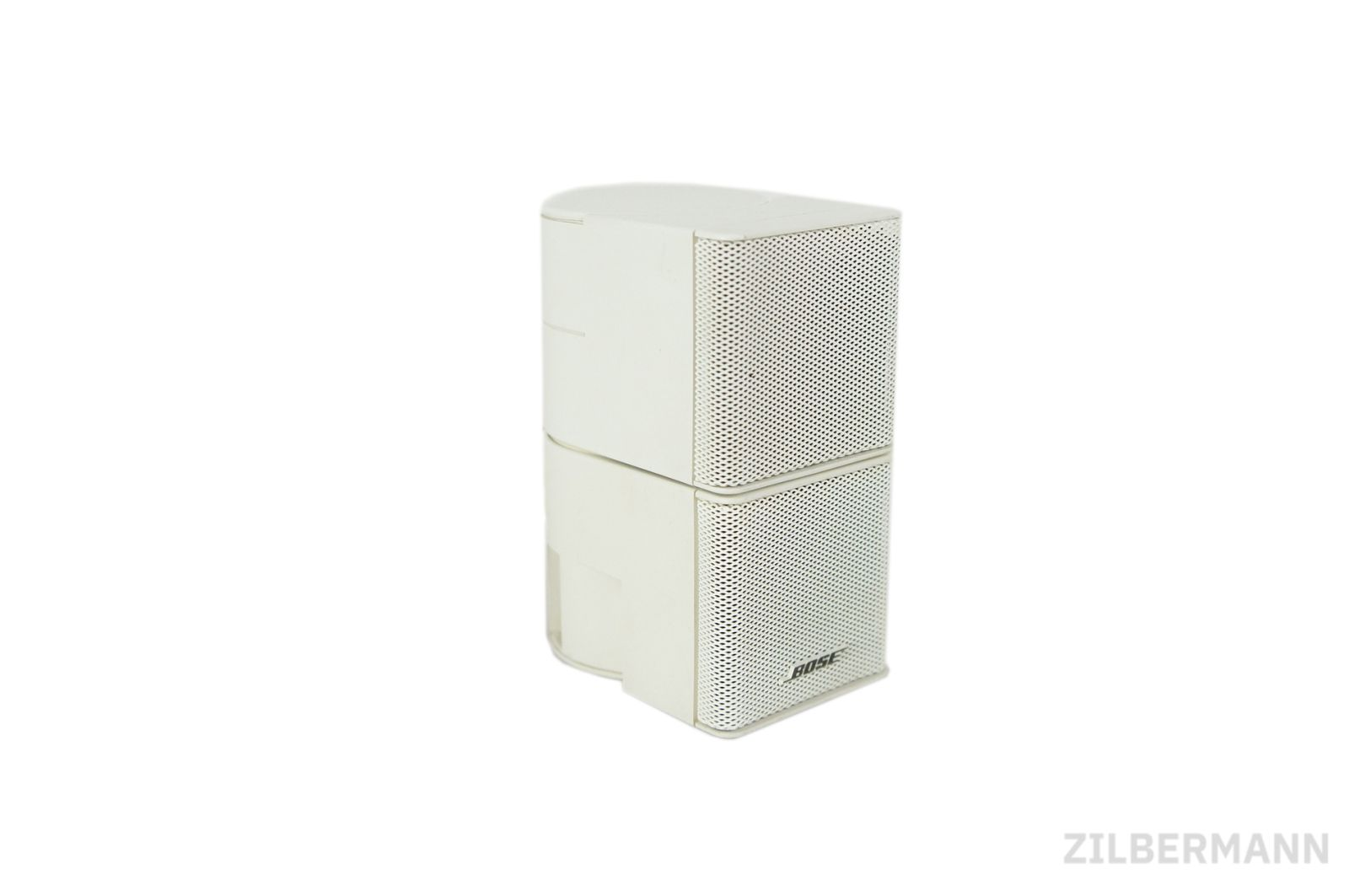 Bose_Jewel_Cube_Box_Satellit_mit_Adapter_Weiss